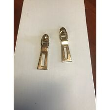 2x Replacement Zipper Pull Tab Zip Fixer for Clothes Bags DIY Crafts Gold Color