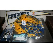 Vintage LOT San Diego Chargers NFL Football Team Banner Pom Poms Luggage Tag VHS
