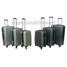 4Wheel Spinner Hard Shell Suitcase Luggage Trolley Cabin Case Diamond Design New