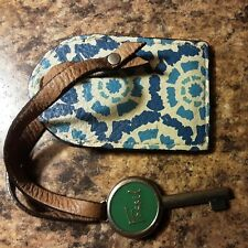 New ListingFossil Leather Luggage Tag With Key