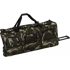 """40"""" Rolling Duffle Bag Soft Sided Travel Luggage with Wheels Camouflage X-Large"""