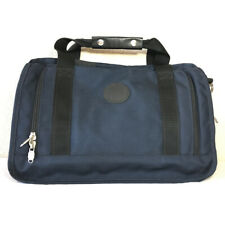 Boyt Duffel Bag Tote Luggage Carry On Navy Blue Handle Zipper Canvas Overnight