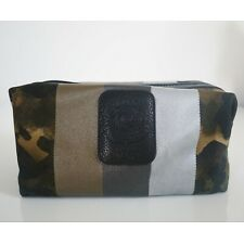"""New Authentic GHURKA """"HOLDALL No. 101"""" CAMO Canvas Leather TOILETRY DOPP Bag Kit"""