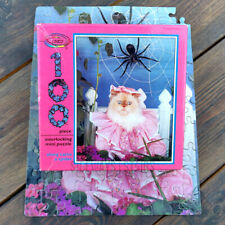 MISS MUFFET CAT MINI PUZZLE along came a spider vintage 90s cute Ceaco halloween