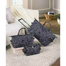 3 Pc. Overnight Rolling Suitcase Luggage Set Travel Duffel Bag Carry Tote Sets