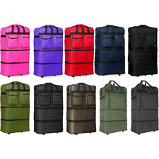 """30"""" / 36"""" / 40"""" Expandable Rolling Duffle Bag Wheeled Spinner Suitcase Luggage"""