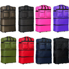 """30"""" L Expandable Rolling Duffel Bag Wheeled Spinner Suitcase Duffel Bag Luggage"""
