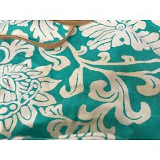mixed bag designs big travel bag set green and white floral pattern used