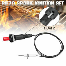 BBQ 100cm Piezo Spark Ignition Igniter Kit Set Gas Grill Oven Push Button LPG NG