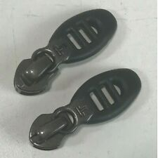 Lot 2 Small Tumi T-Tech Replacement Zipper Pull Tabs and Slides Gray Very Good