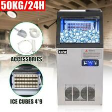50KG 110LB Built-In Commercial Ice Maker Undercounter Freestand Ice Cube Machine
