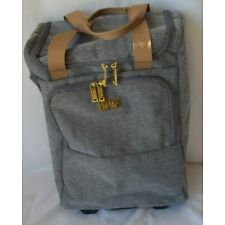"""NICOLE MILLER NEW YORK 20"""" WHEELED CARRY ON TOTE BAG GRAY"""