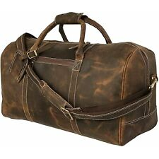 Leather Duffel Men Bag Travel Overnight Weekend Luggage Sports Luggage Gym Tote