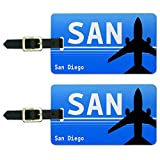 Graphics & More Diego Ca (San) Airport Code Luggage Suitcase Carry-on Id Tags, White