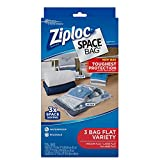 Ziploc Space Bag Clothes Vacuum Sealer Storage Bags for Home and Closet Organization, Protects from Moisture, Dust and Pests, Pack of 3 (M, L, XL)