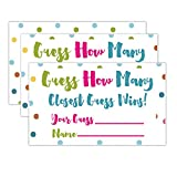 Candy Guessing Game Cards,50-Pack,Games Activities and Decorations.