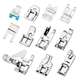 11Pcs Presser Feet, Sewing Machine Kit Household DIY Spare Parts Accessories for Sewing Machine Brother Singer Janome Toyota