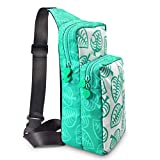 Switch Travel Bag, Compatible for Nintendo Switch,Console,Dock,Joy-Con Grip&Switch Accessories, Nylon Water Resistant Portable Shoulder Chest Crossbody Side Bag Storage Sling Backpack for Men & Boys