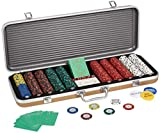 Fake ACES-500 Piece 14 Gram Clay Composite Poker Chip Set with Case. Premium Playing Cards. 5X Dice Casino Quality Poker Chips with Denominations-Numbered. Texas Holdem Poker Set-Casino Games