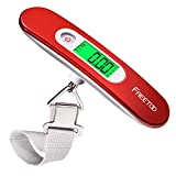 FREETOO Luggage Scale Portable Digital Hanging Scale for Travel, Suitcase Weight Scale with Superior Piano Lacquer 110 Lb/ 50Kg Capacity, Battery Included