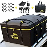YLAUTO Rooftop Cargo Carrier Bag,21 Cubic Feet,100% Waterproof,Vans/Truck Pickup Cargo Carrier Bag with Anti-Slip Mat,Soft Roof Top Luggage Bag Storage Fits All Vehicle with or Without Rack